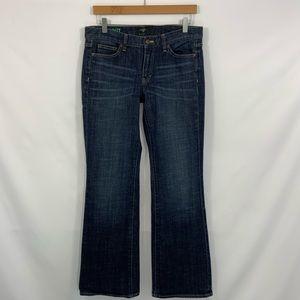 J.Crew Bootcut dark denim blue jeans size 30R  30